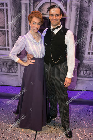 Amy Griffiths (Winifred Banks) and Joseph Millson (George Banks) backstage