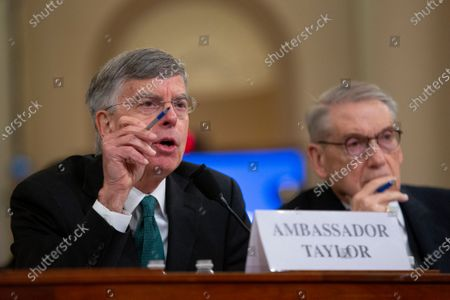 Acting U.S. Ambassador to Ukraine William Taylor, joined by Deputy Assistant U.S. Secretary of State George Kent, testifies before the U.S. House Permanent Select Committee on Intelligence