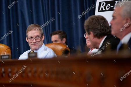 United States Representative Jim Jordan (Republican of Ohio) speaks during the testimony of Deputy Assistant U.S. Secretary of State George Kent and Acting U.S. Ambassador to Ukraine William Taylor before the U.S. House Permanent Select Committee on Intelligence