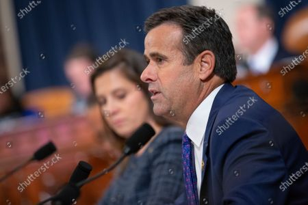 United States Representative John Ratcliffe (Republican of Texas) speaks during the testimony of Deputy Assistant U.S. Secretary of State George Kent and Acting U.S. Ambassador to Ukraine William Taylor before the U.S. House Permanent Select Committee on Intelligence