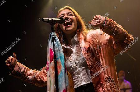Editorial image of Lauren Daigle in concert at O2 Shepherd's Bush Empire, London, UK - 13 Nov 2019