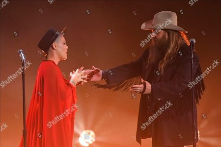 "Pink, Chris Stapleton. Pink, center, and Chris Stapleton, right, perform ""Love Me Anyway"" at the 53rd annual CMA Awards at Bridgestone Arena, in Nashville, Tenn"