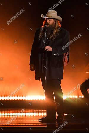 "Chris Stapleton performs ""Love Me Anyway"" at the 53rd annual CMA Awards at Bridgestone Arena, in Nashville, Tenn"