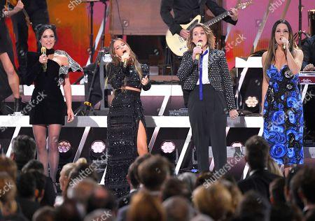 "Amanda Shires, Maren Morris, Brandi Carlile, Natalie Hemby. Amanda Shires, from left, Maren Morris, Brandi Carlile, and Natalie Hemby perform ""Your Good Girl's Gonna Go Bad"" at the 53rd annual CMA Awards at Bridgestone Arena, in Nashville, Tenn"