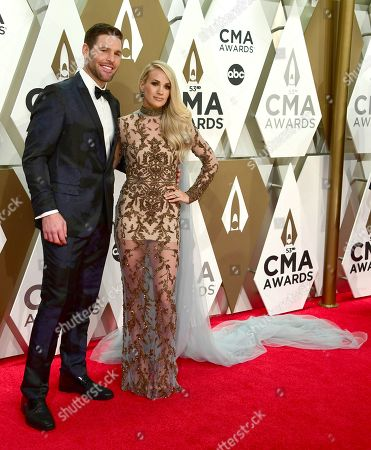 Stock Image of Carrie Underwood, Mike Fisher