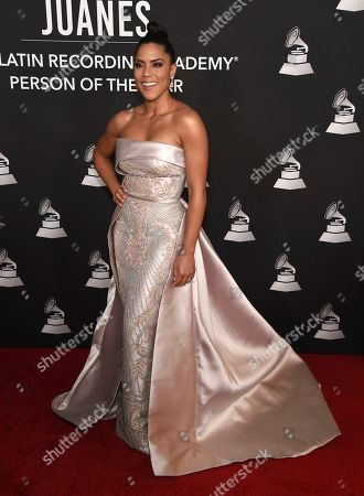 Francisca Lachapel arrives at the Latin Recording Academy Person of the Year gala honoring Juanes at the MGM Conference Center, in Las Vegas