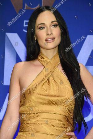 Kasey Musgraves poses in the press room at the 53rd annual CMA Awards at Bridgestone Arena, in Nashville, Tenn