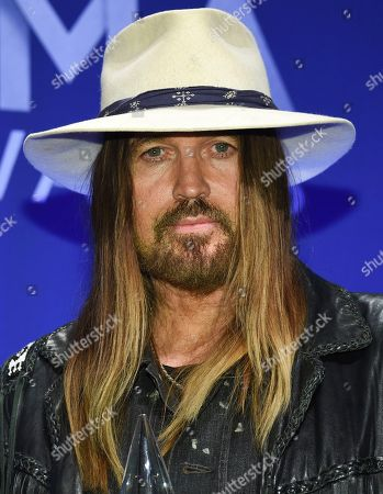 Billy Ray Cyrus. Musician Bill Ray Cyrus poses in the press room with the musical event of the year award at the 53rd annual CMA Awards at Bridgestone Arena, in Nashville, Tenn