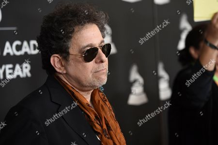 Andres Calamaro arrives at the Latin Recording Academy Person of the Year gala honoring Juanes at the MGM Conference Center, in Las Vegas