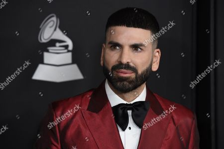 Jomari Goyso arrives at the Latin Recording Academy Person of the Year gala honoring Juanes at the MGM Conference Center, in Las Vegas