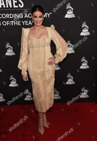 Dayanara Torres arrives at the Latin Recording Academy Person of the Year gala honoring Juanes at the MGM Conference Center, in Las Vegas