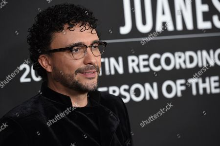 Andres Cepeda arrives at the Latin Recording Academy Person of the Year gala honoring Juanes at the MGM Conference Center, in Las Vegas