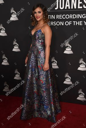 Clarissa Molina arrives at the Latin Recording Academy Person of the Year gala honoring Juanes at the MGM Conference Center, in Las Vegas