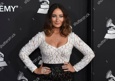 Karla Monroig arrives at the Latin Recording Academy Person of the Year gala honoring Juanes at the MGM Conference Center, in Las Vegas