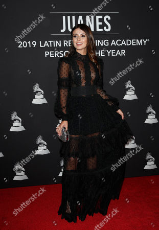 Paula Fernandes arrives for the 2019 Latin Recording Academy Person of the Year gala at the MGM Grand Conference Center in Las Vegas, Nevada, USA, 13 November 2019. The event precedes the 20th annual Latin Grammy Awards that recognize artistic and/or technical achievement, not sales figures or chart positions, and the winners are determined by the votes of their peers - the qualified voting members of the Latin Recording Academy.