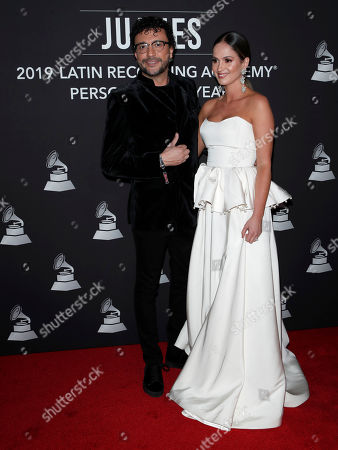 Andres Cepeda (L) and guest arrive for the 2019 Latin Recording Academy Person of the Year gala at the MGM Grand Conference Center in Las Vegas, Nevada, USA, 13 November 2019. The event precedes the 20th annual Latin Grammy Awards that recognize artistic and/or technical achievement, not sales figures or chart positions, and the winners are determined by the votes of their peers - the qualified voting members of the Latin Recording Academy.