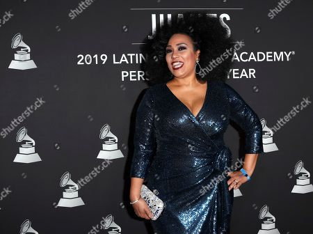 Aymee Nuviola arrives for the 2019 Latin Recording Academy Person of the Year gala at the MGM Grand Conference Center in Las Vegas, Nevada, USA, 13 November 2019. The event precedes the 20th annual Latin Grammy Awards that recognize artistic and/or technical achievement, not sales figures or chart positions, and the winners are determined by the votes of their peers - the qualified voting members of the Latin Recording Academy.