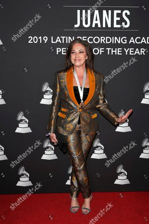 Argentine singer Claudia Brant arrives for the 2019 Latin Recording Academy Person of the Year gala at the MGM Grand Conference Center in Las Vegas, Nevada, USA, 13 November 2019. The event precedes the 20th annual Latin Grammy Awards that recognize artistic and/or technical achievement, not sales figures or chart positions, and the winners are determined by the votes of their peers - the qualified voting members of the Latin Recording Academy.
