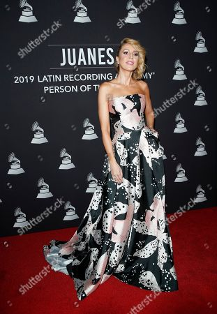 Stock Picture of Alejandra Azcarate arrives for the 2019 Latin Recording Academy Person of the Year gala at the MGM Grand Conference Center in Las Vegas, Nevada, USA, 13 November 2019. The event precedes the 20th annual Latin Grammy Awards that recognize artistic and/or technical achievement, not sales figures or chart positions, and the winners are determined by the votes of their peers - the qualified voting members of the Latin Recording Academy.