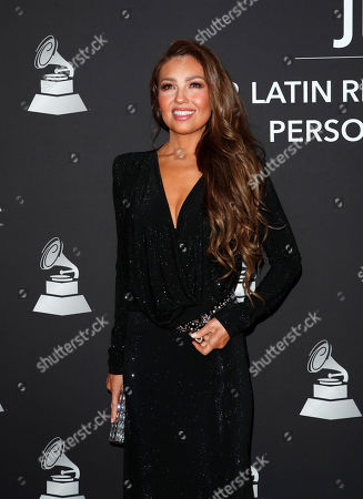 Thalia arrives for the 2019 Latin Recording Academy Person of the Year gala at the MGM Grand Conference Center in Las Vegas, Nevada, USA, 13 November 2019. The event precedes the 20th annual Latin Grammy Awards that recognize artistic and/or technical achievement, not sales figures or chart positions, and the winners are determined by the votes of their peers - the qualified voting members of the Latin Recording Academy.