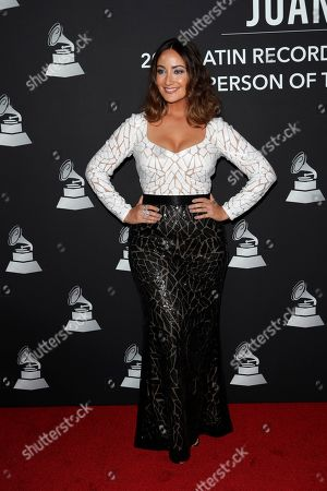 Puerto Rican actress Karla Monroig arrives for the 2019 Latin Recording Academy Person of the Year gala at the MGM Grand Conference Center in Las Vegas, Nevada, USA, 13 November 2019. The event precedes the 20th annual Latin Grammy Awards that recognize artistic and/or technical achievement, not sales figures or chart positions, and the winners are determined by the votes of their peers - the qualified voting members of the Latin Recording Academy.