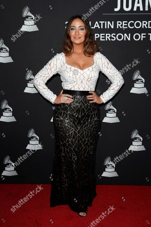 Stock Photo of Puerto Rican actress Karla Monroig arrives for the 2019 Latin Recording Academy Person of the Year gala at the MGM Grand Conference Center in Las Vegas, Nevada, USA, 13 November 2019. The event precedes the 20th annual Latin Grammy Awards that recognize artistic and/or technical achievement, not sales figures or chart positions, and the winners are determined by the votes of their peers - the qualified voting members of the Latin Recording Academy.