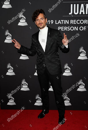 Puerto Rican singer-songwriter Tommy Torres arrives for the 2019 Latin Recording Academy Person of the Year gala at the MGM Grand Conference Center in Las Vegas, Nevada, USA, 13 November 2019. The event precedes the 20th annual Latin Grammy Awards that recognize artistic and/or technical achievement, not sales figures or chart positions, and the winners are determined by the votes of their peers - the qualified voting members of the Latin Recording Academy.