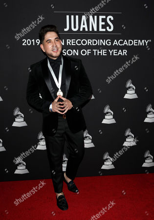 Stock Image of El Bebeto arrives for the 2019 Latin Recording Academy Person of the Year gala at the MGM Grand Conference Center in Las Vegas, Nevada, USA, 13 November 2019. The event precedes the 20th annual Latin Grammy Awards that recognize artistic and/or technical achievement, not sales figures or chart positions, and the winners are determined by the votes of their peers - the qualified voting members of the Latin Recording Academy.