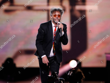 Argentine pianist/singer Fito Paez performs during the 2019 Latin Recording Academy Person of the Year gala at the MGM Grand Conference Center in Las Vegas, Nevada, USA, 13 November 2019. The event precedes the 20th annual Latin Grammy Awards that recognize artistic and/or technical achievement, not sales figures or chart positions, and the winners are determined by the votes of their peers - the qualified voting members of the Latin Recording Academy.