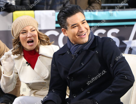 Kit Hoover and Mario Lopez
