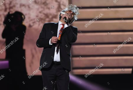 """Fito Paez performs """"Fijate Bien"""" at the Latin Recording Academy Person of the Year gala honoring Juanes at the MGM Conference Center, in Las Vegas"""