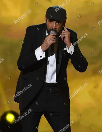 "Juan Luis Guerra performs ""A Dios Le Pido"" at the Latin Recording Academy Person of the Year gala honoring Juanes at the MGM Conference Center, in Las Vegas"