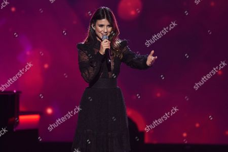 """Stock Photo of Paula Fernandes performs """"Para Tu Amor"""" at the Latin Recording Academy Person of the Year gala honoring Juanes at the MGM Conference Center, in Las Vegas"""