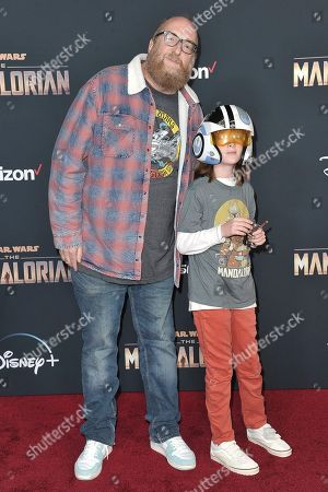 "Brian Posehn attends the LA premiere of ""The Mandalorian"" at the El Capitan Theatre, in Los Angeles"