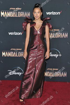 "Sofia Wylie attends the LA premiere of ""The Mandalorian"" at the El Capitan Theatre, in Los Angeles"