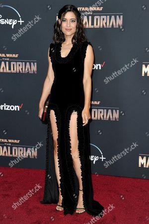 "Julia Jones attends the LA premiere of ""The Mandalorian"" at the El Capitan Theatre, in Los Angeles"