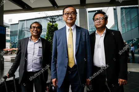 Editorial image of Self-exiled former Cambodian opposition leader Sam Rainsy visits Jakarta, Indonesia - 14 Nov 2019
