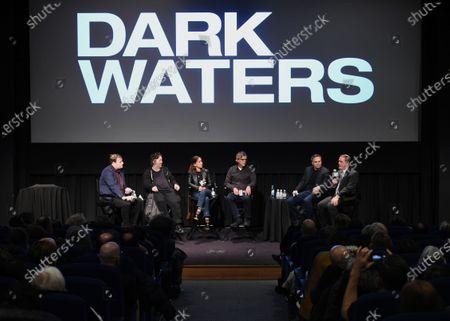 Christian Blauvelt, Christine Vachon, Pamela Koffler, Todd Haynes, Mark Ruffalo and Rob Bilott
