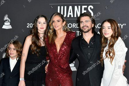 Karen Martinez, Juanes and family