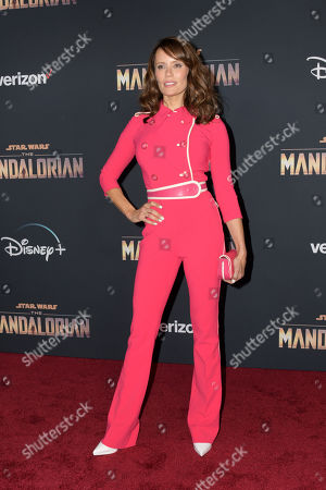 Emily Swallow arrives at the premiere of the Disney Plus web television series 'The Mandalorian' at El Capitan Theatre in Los Angeles, California, USA, 13 November 2019.