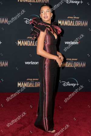 Sofia Wylie arrives at the premiere of the Disney Plus web television series 'The Mandalorian' at El Capitan Theatre in Los Angeles, California, USA, 13 November 2019.