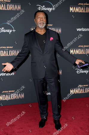 Carl Weathers arrives at the premiere of the Disney Plus web television series 'The Mandalorian' at El Capitan Theatre in Los Angeles, California, USA, 13 November 2019.