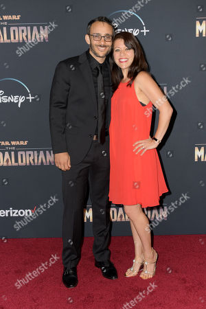Stock Photo of Omid Abtahi (L) and guest (not identified) arrive at the premiere of the Disney Plus web television series 'The Mandalorian' at El Capitan Theatre in Los Angeles, California, USA, 13 November 2019.