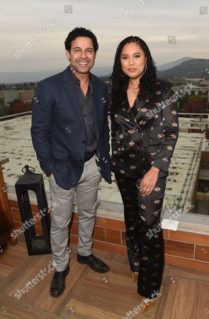 Jon Huertas and Ayesha Curry attends Variety's Vivant launch during the Napa Valley Film Festival, held at Archer Hotel, Napa Valley, CA @NapaFilmFest #NVFF19