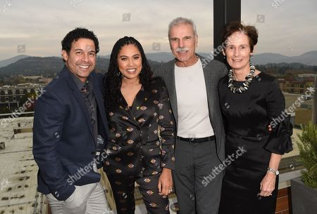 Jon Huertas, Ayesha Curry, Peter Mondavi Jr. and Katie Mondavi attends Variety's Vivant launch during the Napa Valley Film Festival, held at Archer Hotel, Napa Valley, CA @NapaFilmFest #NVFF19