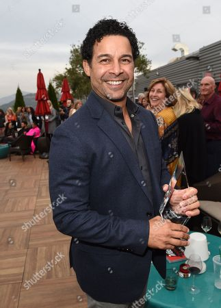 Jon Huertas poses with his 'Spice Award' attends Variety's Vivant launch during the Napa Valley Film Festival, held at Archer Hotel, Napa Valley, CA @NapaFilmFest #NVFF19
