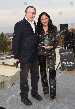 Variety EVP Steven Gaydos and Ayesha Curry attends Variety's Vivant launch during the Napa Valley Film Festival, held at Archer Hotel, Napa Valley, CA @NapaFilmFest #NVFF19