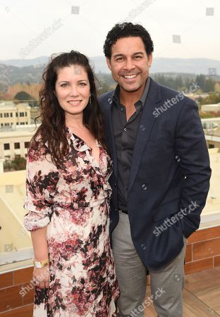 Jon Huertas and Nicole Huertas attends Variety's Vivant launch during the Napa Valley Film Festival, held at Archer Hotel, Napa Valley, CA @NapaFilmFest #NVFF19