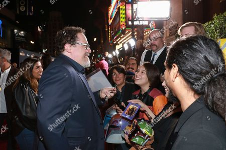 "Jon Favreau attends the LA Premiere of ""The Mandalorian"" at the El Capitan Theatre, in Los Angeles"