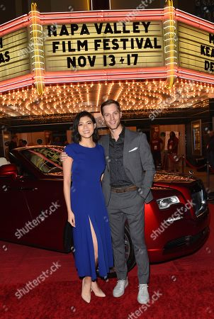 Celine Tsai and Jonathan Keltz from the film 'Stealing School', attend the opening night of the Napa Valley Film Festival held at the Uptown Theatre, Napa Valley, CA @NapaFilmFest #NVFF19